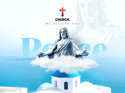 Church- We believe you banner design webdesign church design design illustration graphicdesign minimal christmas