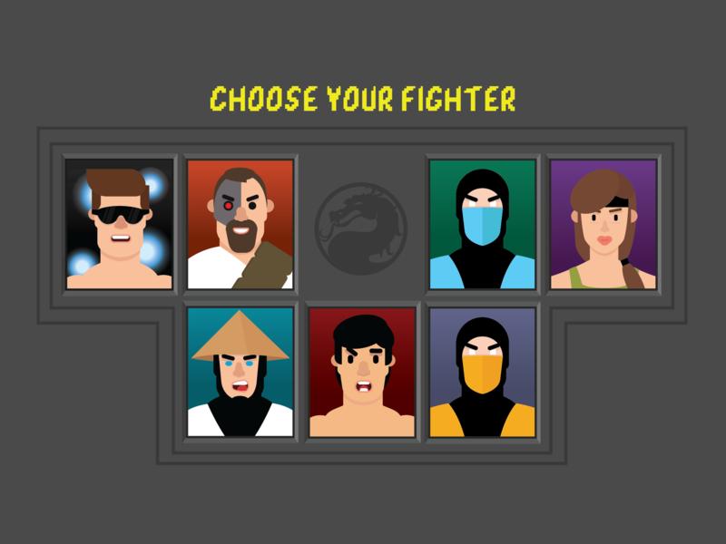 Mortal Kombat 1 menu by The Visual Villain on Dribbble
