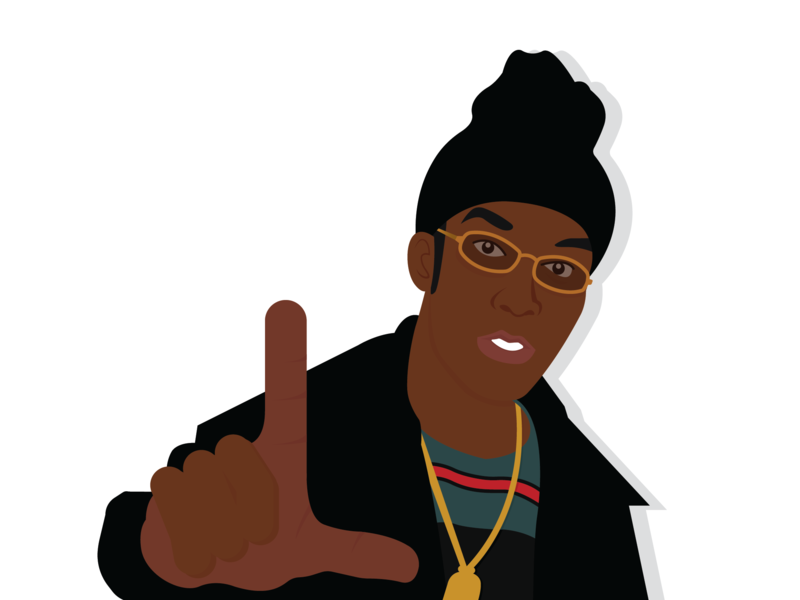 Big L 1974 - 1999 graphic designer ditc rap mc hiphopartist hiphop bigl graphic  design illustration vector design