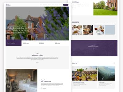 The Priory Website Design
