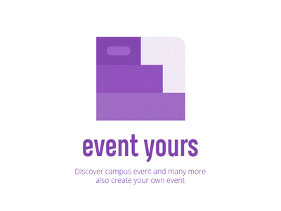 Event yours purple text logotext company startup logo concept logo design ui logotype design