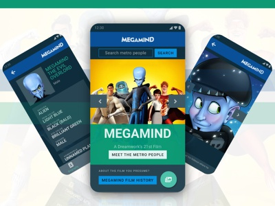 Megamind App Concept dark theme app blue green android design metro city megamind app megamind mobile ui ui design mobile design android app mobile app mobile