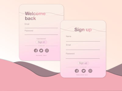 Daily UI challenge day 1: Sign up ui design dailyui 001 dailyui