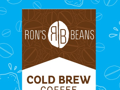 Ron's Beans : Cold Brew politica pluto brown blue cold ice beans iced cold brew coffee
