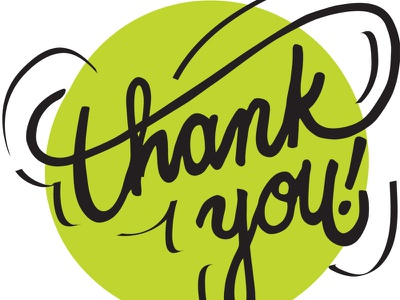 Thank You August 2015 wip wacom hand lettering green thanks you thank
