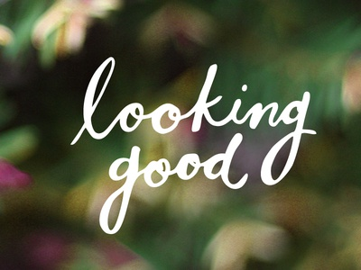 Looking Good Dood! nature spring hand drawn type calligraphy hand lettering good looking
