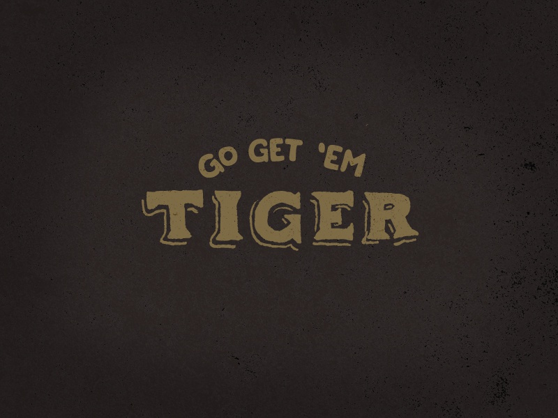 Go Get Em Tiger texture hand lettered gold black inspiration go get em tiger