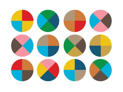 Fun quarters circles colorway branding color