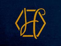 Harvesthoney h logo navy background 2017 dribbble