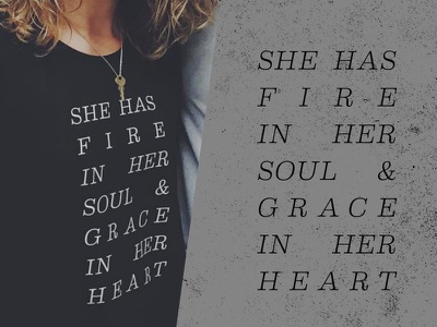 Empowered Women's Conference Merch empowered shirts merchandise soul heart grace wreath script illustration hand lettered