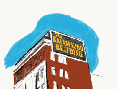 Kalamazoo Building architecture building adobe kalamazoo building kalamazoo illustration
