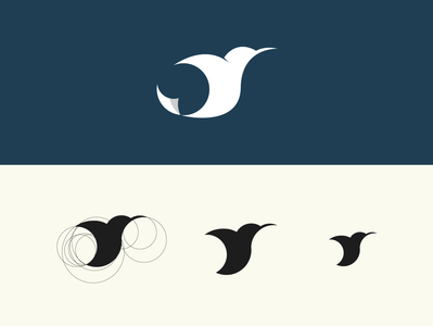 minimalist logo bird logo