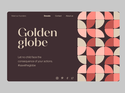 Geometric web ui ngo shapes circles geometic landing page web design