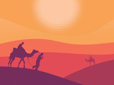 Enslaved illustration art flat minimalist egypt desert illustration art colorful design beautiful illustrator
