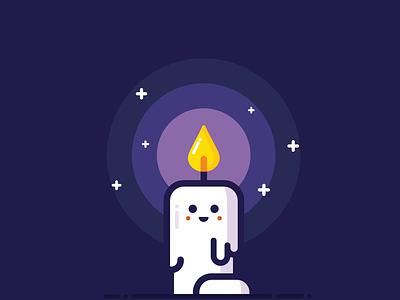 Happy Candle logo vector ui digital art candle cute illustration illustrator minimalistic minimal flat art design beautiful