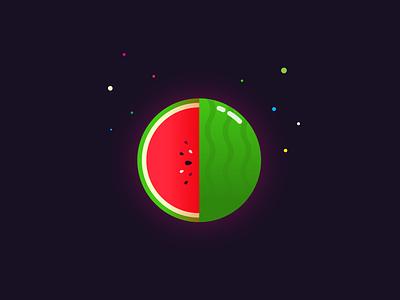Watermelon rebound of MBE illustrations illustrator minimalist minimal flat fruit cute colorful vector logo illustration art design beautiful