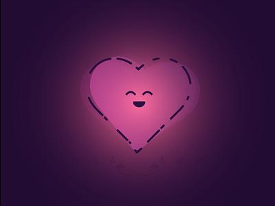 Heart illustrator cc happy affection wallpaper cute heart love graphics illustrator composite ui vector logo illustration art design beautiful