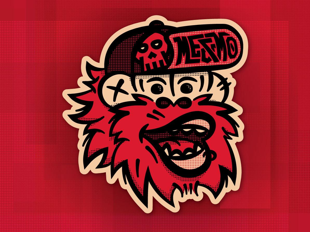 Ape Collab logo collaboration vector illustration beard hat ape monkey mascot