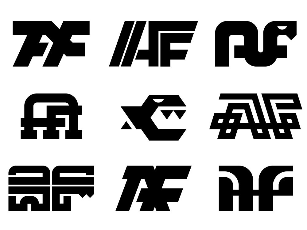 AF Logo monogram design vector branding logo