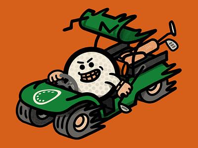 Golf Cart photoshop drawing golfing golf club angry golf cart golf ball golf illustration