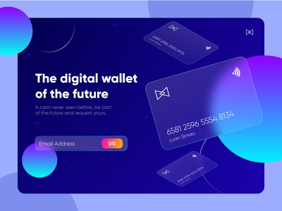 Wallet of the future | Luan Simão website ux web app ui design