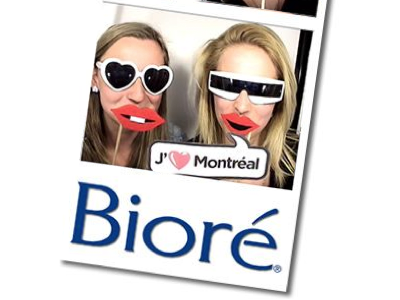 Photo Booth Ipad App - pic from Bioré