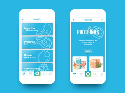 Nutrilife – Salud ux ui nutrición salud photoshop nutrition interface health app android