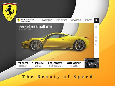 Ferrari Dealership UX Design app website ui web design ux