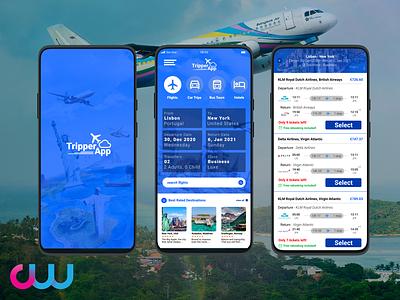 Travel App UI Design travel app android design ui design bookings booking smartphone android travel ui travel ui app