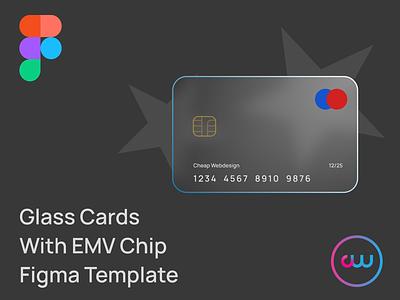 Glass Cards Figma Template modern 2021 trend ui element uidesign ui credit card payment glassmorphism glass figma