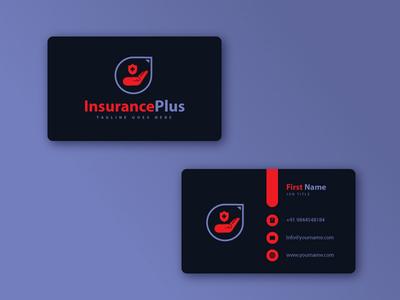 Insurance Plus Logo design typography icon logo branding