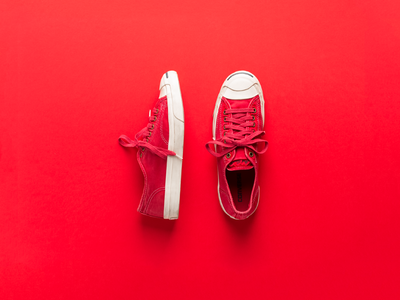 Photograph of red shoes