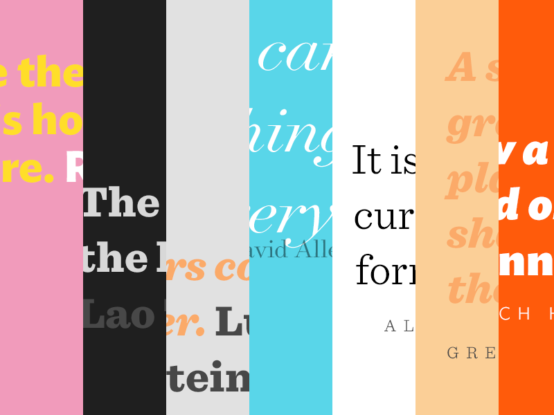 Type quotes by Erol on Dribbble