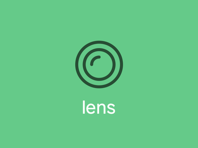 Icon for camera lens iconography illustration hand icon