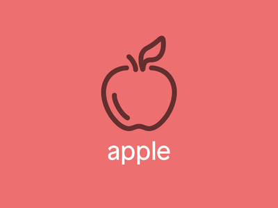 A Is For Apple drawing freehand apple iconography hand illustration icon