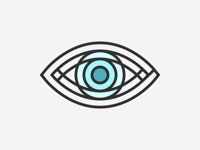 Eye illustration abstract graphic blue lines iconography icon eye