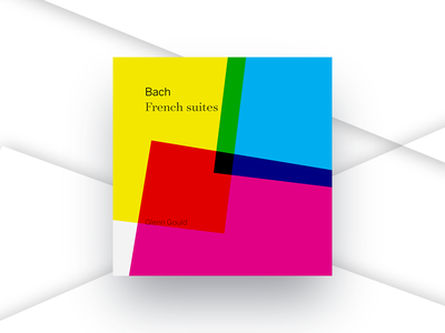 Bach French Suites primary theory color itunes album beethoven music cover