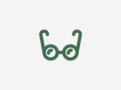 Spectacles green line drawing illustration icons iconography glasses