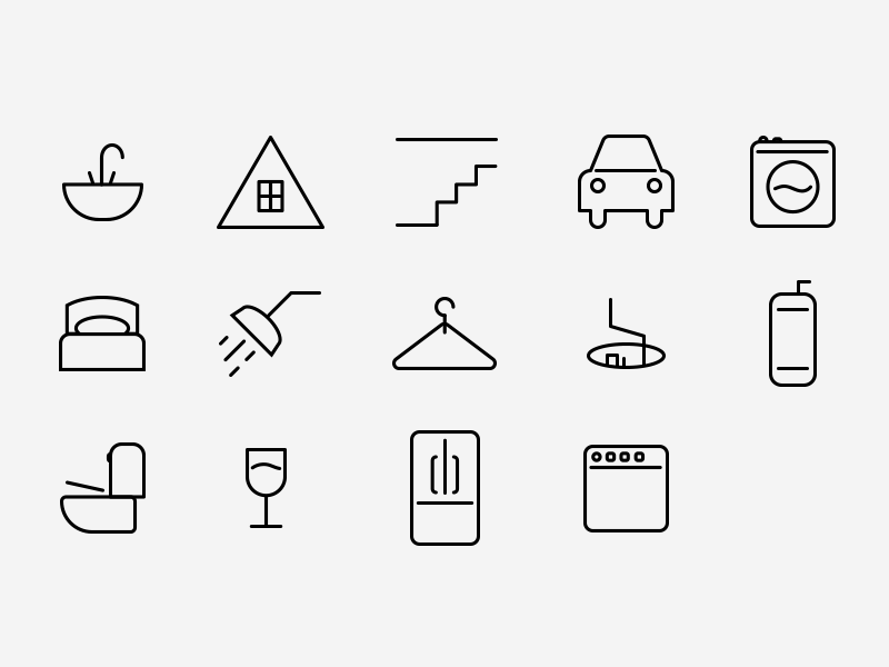 Roost home icons complete