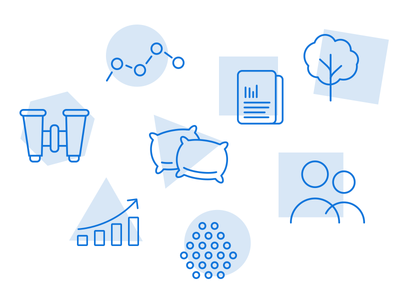 Icons for Logistics collection logistics iconography blue illustration icon