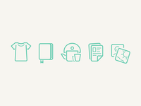 Home Tidying Icons for KonMari