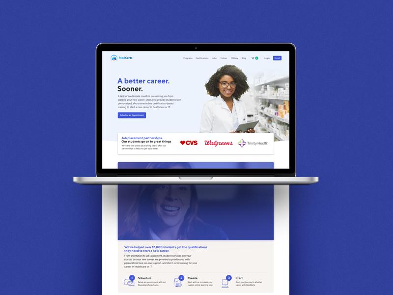 Medcerts homepage