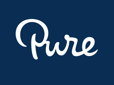 Pure Freude an Wasser strap line slogan tagline branding identity calligraphy lettering custom hand-writing writing.