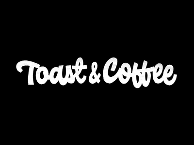 Toast&Coffee branding graphicdesign custom lettering design cafe toast coffee lettering logotype logo