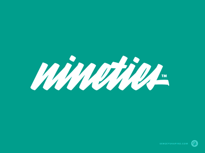 Nineties t-shirt wear hand-writing script logotype typography custom calligraphy logo lettering
