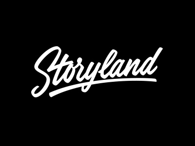 Storyland logo vector calligraphy lettering custom hand-writing script
