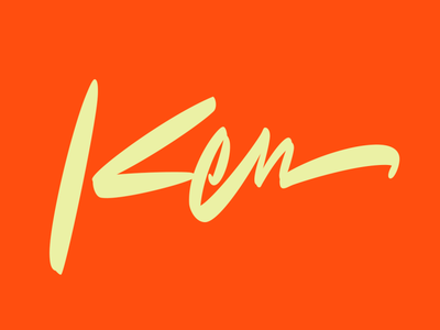 Ken freestyle orange scriptlettering script lettering