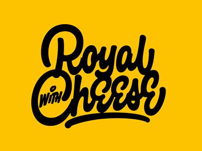 Royal with Cheese леттеринг logotype script identity t-shirt typography custom calligraphy logo lettering