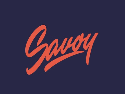 Savoy identity леттеринг typography custom calligraphy hand-writing lettering logo script logo script lettering logotype logo graphic designer graphicdesign