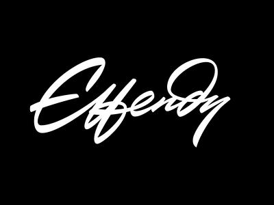 Effendy logo design logotypes identity hand-writing script logotype typography custom calligraphy logo lettering